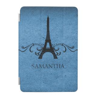 Blue Vintage French Flourish iPad Mini Cover