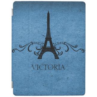 Blue Vintage French Flourish iPad Cover