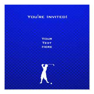 Blue Vintage Golfer Personalized Announcements