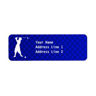 Blue Vintage Golfer Label