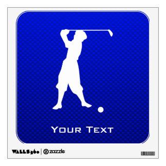 Blue Vintage Golfer Wall Decals