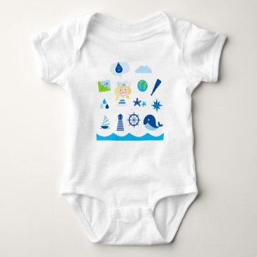 Beach Themed BLUE VINTAGE MARE ICONS : Tshirts