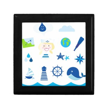 Beach Themed BLUE VINTAGE MARE ICONS : Tshirts Gift Box