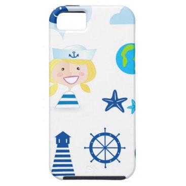 Beach Themed BLUE VINTAGE MARE ICONS : Tshirts iPhone SE/5/5s Case