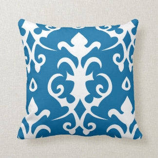 Blue Vintage Pattern Damask Pillow
