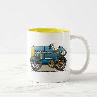 Blue Vintage Race Car Mugs