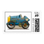 Blue Vintage Race Car Stamps