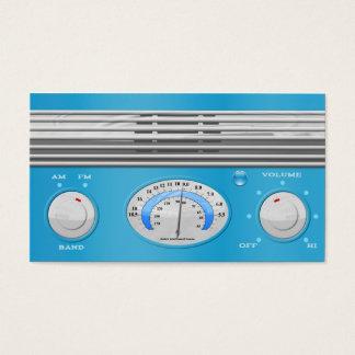 Blue Vintage Radio Business Card
