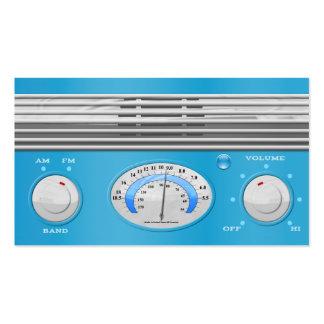 Blue Vintage Radio Business Card Templates