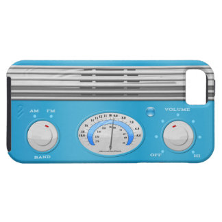 Blue Vintage Radio iPhone SE/5/5s Case