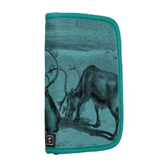 Blue Vintage Reindeer Illustration Planners