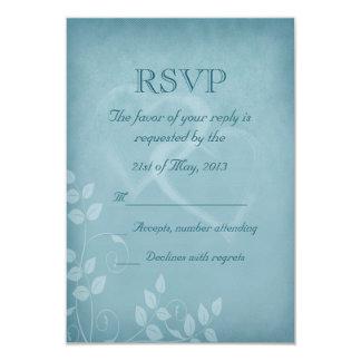 Blue Vintage RSVP 3.5x5 Paper Invitation Card