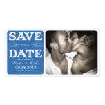 BLUE VINTAGE  | SAVE THE DATE ANNOUNCEMENT PHOTO CARD