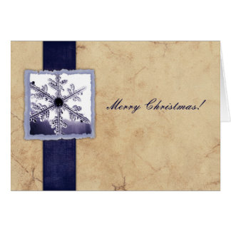 Blue Vintage Snowflake Christmas Cards