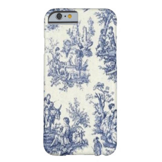 Blue Vintage Toile Barely There iPhone 6 Case