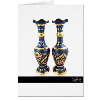 Blue Vintage Vase Card