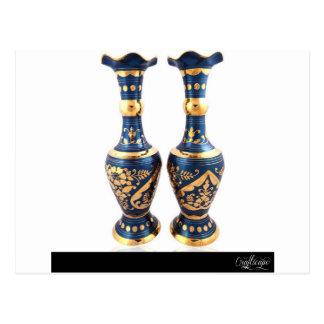 Blue Vintage Vase Postcard