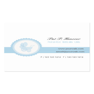 Blue Vintage Victorian Baby Stroller Carriage Business Card