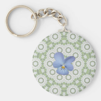 Blue Viola Pansy ~ Cicles Key Chains