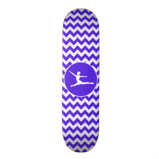 Blue Violet Chevron; Ballet Skateboard