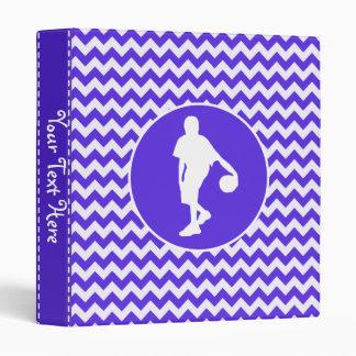 Blue Violet Chevron; Basketball Binder