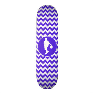 Blue Violet Chevron; Basketball Skateboard Deck