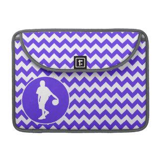 Blue Violet Chevron; Basketball Sleeve For MacBook Pro