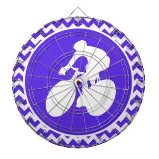 Blue Violet Chevron; Cycling Dart Board