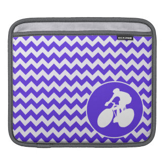 Blue Violet Chevron; Cycling Sleeve For iPads