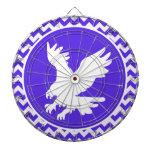 Blue Violet Chevron; Eagle Dartboards