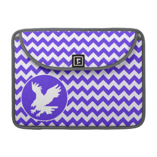 Blue Violet Chevron; Eagle Sleeve For MacBook Pro