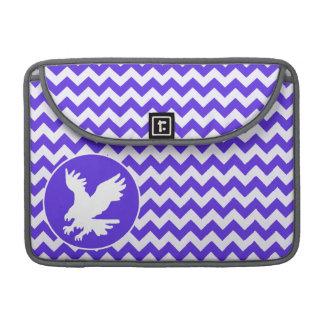 Blue Violet Chevron; Eagle Sleeve For MacBooks