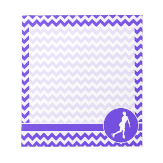 Blue Violet Chevron; Figure Skating Notepad