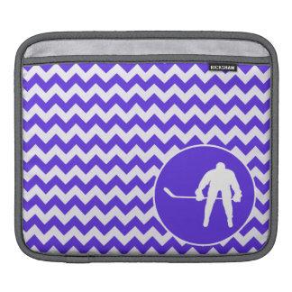 Blue Violet Chevron Hockey Sleeve For iPads