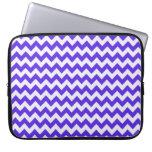 Blue Violet Chevron Laptop Sleeves