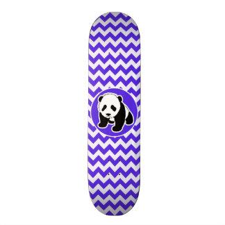 Blue Violet Chevron; Panda Skateboard Deck