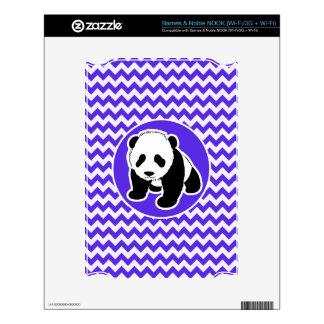 Blue Violet Chevron; Panda NOOK Decal