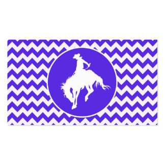 Blue Violet Chevron; Rodeo Business Card Templates