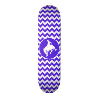 Blue Violet Chevron; Rodeo Skateboard Deck