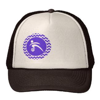 Blue Violet Chevron; Soccer Trucker Hat