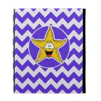 Blue Violet Chevron; Starfish iPad Folio Cases