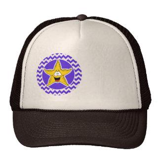 Blue Violet Chevron; Starfish Trucker Hat