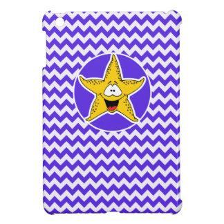 Blue Violet Chevron; Starfish iPad Mini Cover
