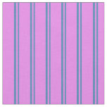 [ Thumbnail: Blue & Violet Colored Lines Fabric ]