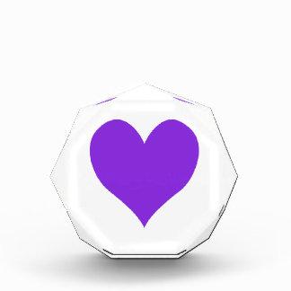Blue Violet Cute Heart Shape Awards