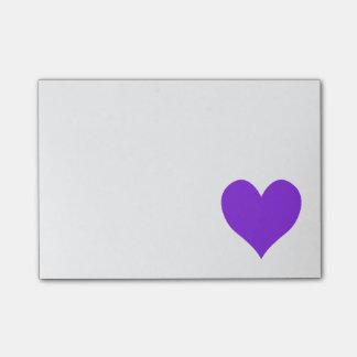 Blue Violet Cute Heart Shape Post-it Notes