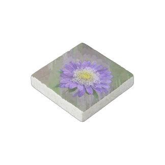 blue violet flower stone magnet