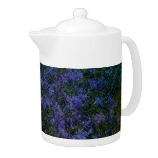 Blue Violet Garden Teapot