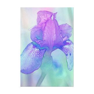 Blue Violet Iris Digital Watercolor Canvas Print