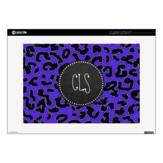 Blue Violet Leopard Print; Vintage Chalkboard look Laptop Decals